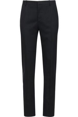 Alexander McQueen Men Formal Trousers - Wool Gabardine Pants
