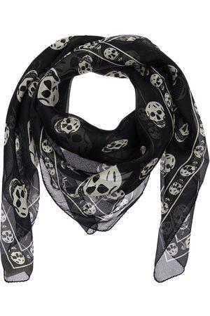 Alexander McQueen Men Scarves - Skull Print Silk Scarf