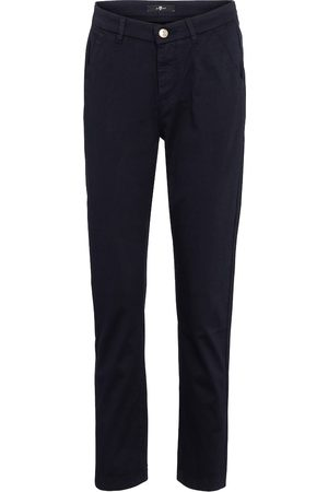 7 for all Mankind Women Stretch Trousers - Stretch-cotton straight pants