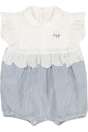 Il gufo Baby striped stretch-cotton playsuit