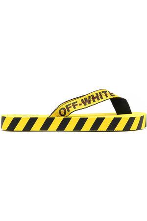 OFF-WHITE Logo-tape detail flip-flops