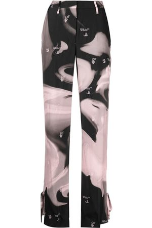 OFF-WHITE Women Trousers - Liquid Melt tie-ankle trousers