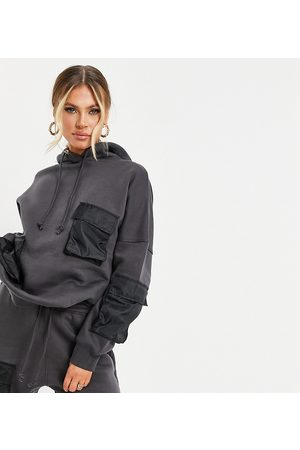 Missguided Co-ord hoodie with pocket detail in