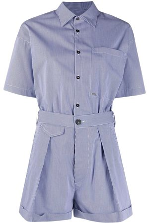 Dsquared2 Short-sleeve button-fastening playsuit