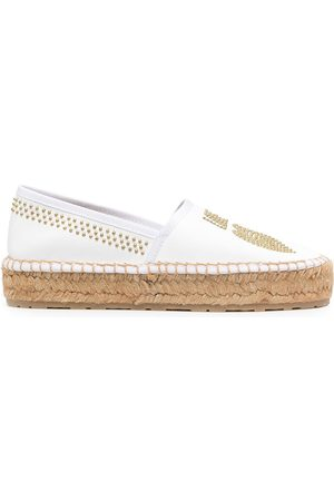 Love Moschino Stud embellished Love espadrilles