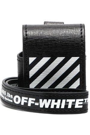 OFF-WHITE Diag-print AirPods case