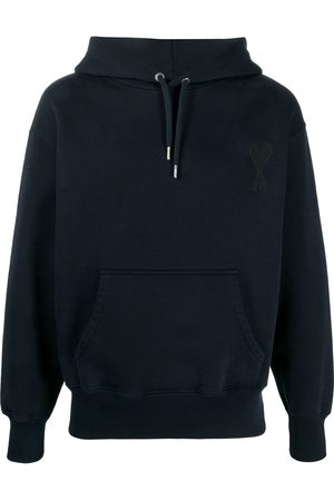 Ami Logo patch cotton hoodie