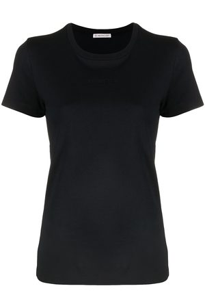 Moncler Women Short Sleeve - Embroidered-logo T-shirt