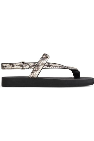 Giuseppe Zanotti Women Slippers - Hydra leather flip flops