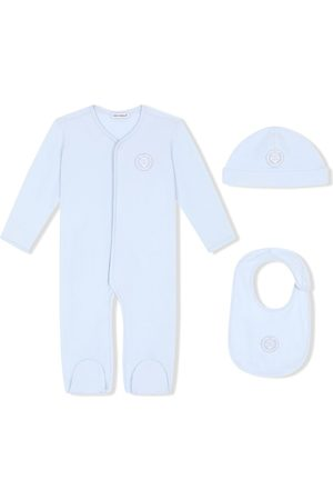 Dolce & Gabbana DG laurel-patch three-piece pajama set