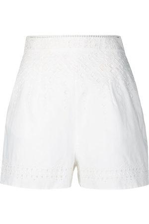 ERMANNO SCERVINO Embroidered high-waist shorts