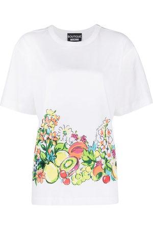 Moschino Women T-shirts - Fruit print cotton T-shirt
