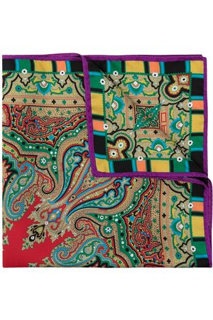 Etro Men Bow Ties - Paisley print pocket square