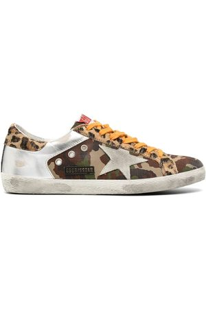 Golden Goose Superstar panelled low-top sneakers