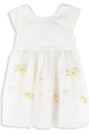 Petit Bateau Baby Girl's and Little Girl's Floral Embroidered Fit-&-Flare Dress