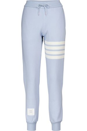Thom Browne Cashmere and cotton-blend slim trackpants