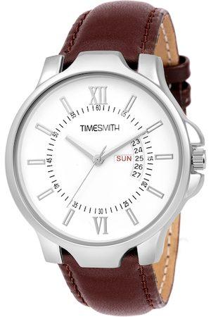 TIMESMITH Men White & Brown Analogue Watch TSC-072ktd1