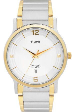Timex Men Off-White Analogue Watch TW000R424