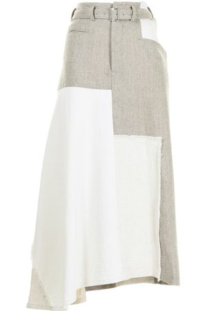 Y'S Panelled belted trousers