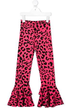 Wauw Capow by Bangbang Leopard print ruffled leggings