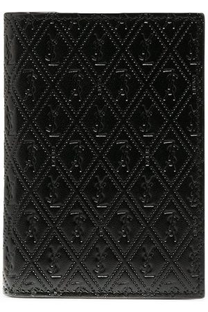 Saint Laurent Perforated leather cardholder