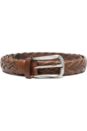 Brunello Cucinelli Men Belts - Woven leather belt