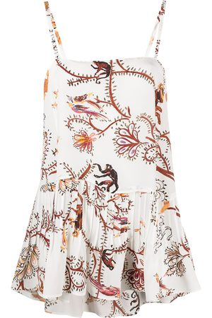 Dorothee Schumacher Women Tank Tops - Tree Of Life silk top