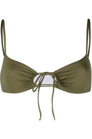 Dsquared2 Cut-out tie-fastening bikini top