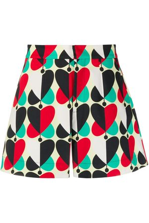 La DoubleJ Heart-print high-waisted shorts