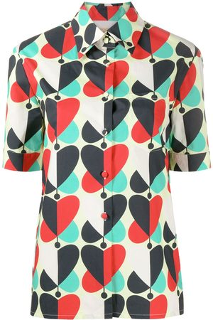 La DoubleJ Heart-print short-sleeved shirt