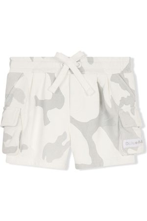 Dolce & Gabbana Kids Camouflage print cargo shorts