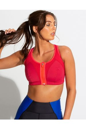 Pour Moi Energy Non Wired Zip Front Sports Bra Cherry