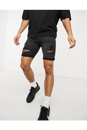 New Look Skinny denim shorts in washed