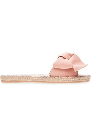 MANEBI Bow Suede Espadrille Sandals