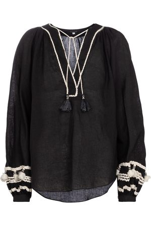 JOHANNA ORTIZ Women Shirts - Cursos Del Rio linen and cotton blouse