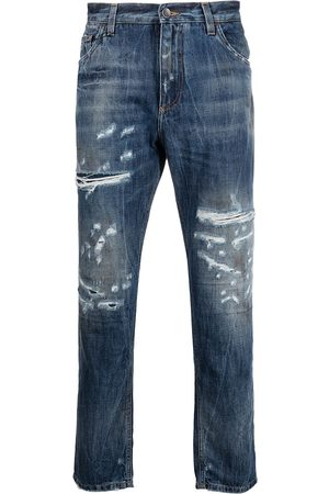 Dolce & Gabbana Ripped detailing cropped jeans