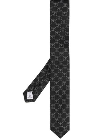Moschino Men Bow Ties - Patterned intarsia knit neck tie