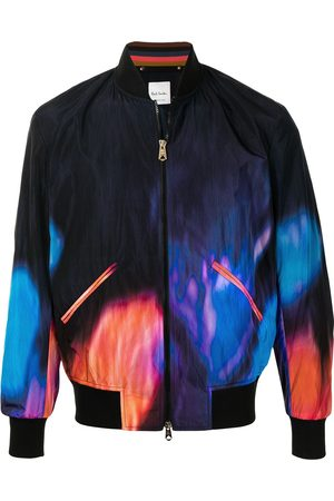 Paul Smith Abstract fire print bomber jacket