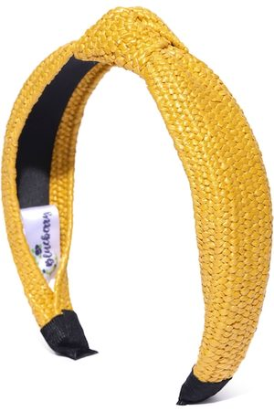 Blueberry Women Mustard Yellow Basketweave Jute Hairband