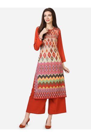 Silk Bazar Women Multicoloured Printed Straight Kurta