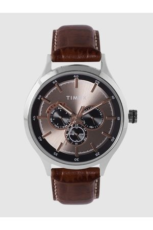 Timex Men Charcoal Analogue Watch TW000T309
