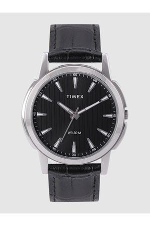 Timex Men Black Textured Analogue Watch TW00ZR287E