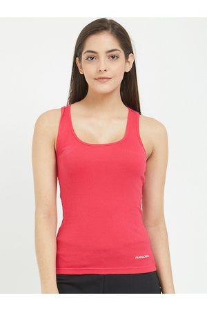 Fruit Of The Loom Women Vests - Women Pink Solid Camisole FRBS01-A1S6