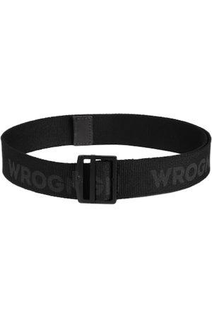 WROGN Men Black Printed Belt