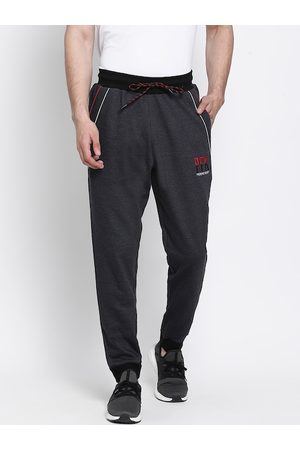 PERFKT-U Men Grey Solid Straight-Fit Joggers
