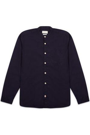 OLIVER SPENCER Grandad Shirt Abbott - Navy