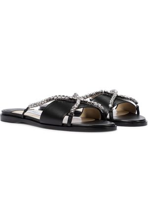 Jimmy Choo Aadi embellished leather slides