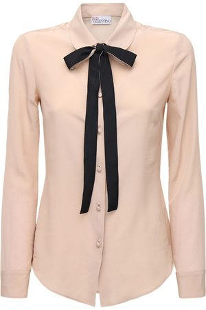 RED Valentino Crepe De Chine Shirt W /bow