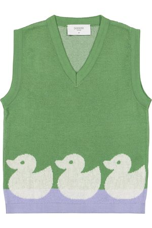 PAADE Duck-intarsia cotton knit vest