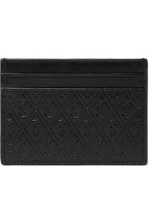 Saint Laurent Men Wallets - Logo-Debossed Leather Cardholder